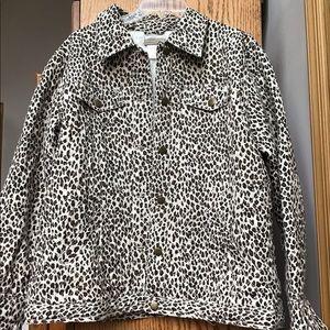 Coldwater Creek ladies 💯 % silk jean jacket sz L